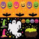 Halloweenowi elementy ilustracji