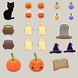 Halloweenowi elementy Fotografia Royalty Free