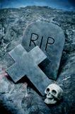 Halloweenowi grób Zdjęcie Royalty Free