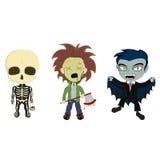 Halloweenowi kostiumów dzieciaki Obrazy Royalty Free