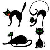 Halloweenowi koty ilustracji