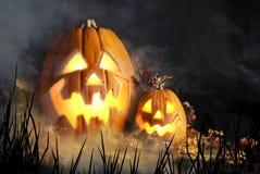 Halloweenowi lampiony Obrazy Royalty Free