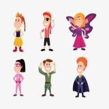 Halloweenowi ludzie klientów royalty ilustracja