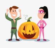 Halloweenowi ludzie klientów ilustracja wektor