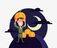 Halloweenowi ludzie klientów ilustracji