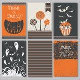 Halloweenowi plakaty ustawiający Zdjęcie Stock