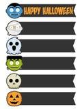Halloweenowi potworów sztandary Zdjęcia Stock