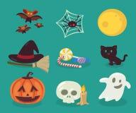 Halloweenowi przedmioty Fotografia Royalty Free