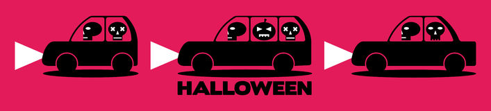 Halloweenowi samochody Obraz Stock