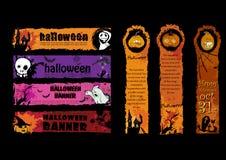 Halloweenowi sztandary Zdjęcia Royalty Free