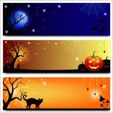 Halloweenowi sztandary Zdjęcie Royalty Free