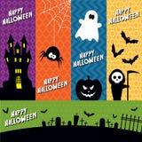 Halloweenowi sztandary Obrazy Royalty Free