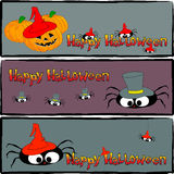 Halloweenowi sztandary 1 Ilustracja Wektor