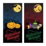Halloweenowi sztandary lub ulotki pojęcie Zdjęcia Stock