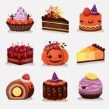 Halloweenowi torty Obrazy Royalty Free