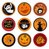 Halloweenowi Wektorowi napojów kabotażowowie ilustracja wektor