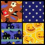 Halloweenowi wzory Zdjęcie Stock
