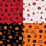 Halloweenowi wzory Obrazy Stock