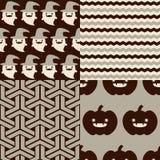 Halloweenowi wzory Obraz Stock