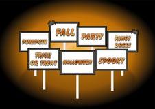 Halloweenowi znaki obrazy stock