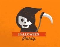 Halloweenowy śliczny plakat Zdjęcie Royalty Free