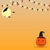 Halloweenowy świętowanie chorągiewek tło Obrazy Stock
