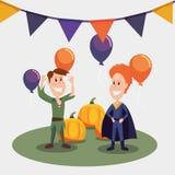 Halloweenowy świętowanie dzień ilustracja wektor
