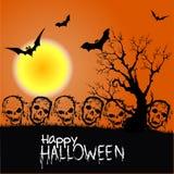Halloweenowy żywego trupu przyjęcia plakat Zdjęcie Stock