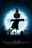 Halloweenowy żywego trupu przyjęcia plakat dodatkowy karcianego formata wakacje Obraz Stock