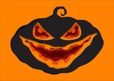 Halloweenowy bania papieru sztuki styl Fotografia Royalty Free