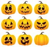 Halloweenowy bania temat ustawia 1 Zdjęcie Stock