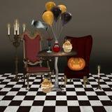 Halloweenowy bankiet Obrazy Royalty Free