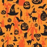 Halloweenowy bezszwowy tło Zdjęcie Stock