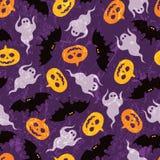 Halloweenowy bezszwowy wzór Obrazy Royalty Free