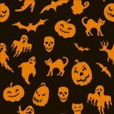 Halloweenowy bezszwowy wzór Obraz Stock