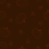 Halloweenowy bezszwowy wzór z baniami Zdjęcia Royalty Free