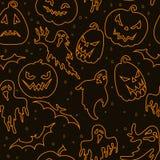 Halloweenowy bezszwowy wzór Zdjęcia Royalty Free