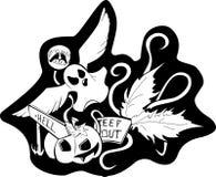 Halloweenowy Black&White Obrazy Stock