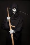 Halloweenowy charakter: ponura żniwiarka fotografia stock