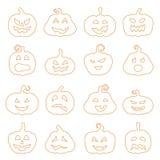 Halloweenowy dekorować jack lampion sylwetkę o Zdjęcia Stock