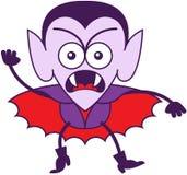 Halloweenowy Dracula czuć wściekły i protestujący Fotografia Stock