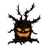 Halloweenowy drzewny wektor Zdjęcia Royalty Free