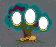 Halloweenowy drzewo ilustracja wektor