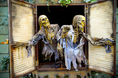 Halloweenowy duch Nawiedzający dom Zdjęcie Royalty Free