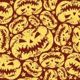 Halloweenowy dyniowy bezszwowy wzór Fotografia Royalty Free