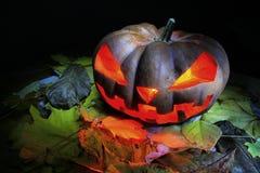 Halloweenowy Dyniowy Jack O& x27; Lampion Fotografia Stock