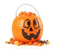 Halloweenowy dyniowy kosz Zdjęcia Royalty Free