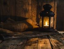 Halloweenowy dyniowy markotny obrazek z lampionem obraz stock