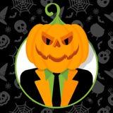 Halloweenowy dyniowy portret Fotografia Stock