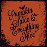 Halloweenowy dyniowy rocznika literowania tło Zdjęcie Stock